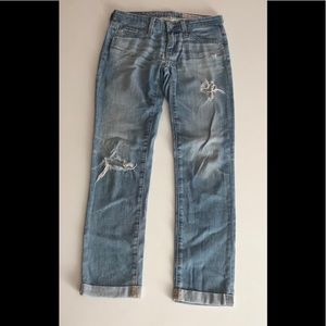 AG Stilt Cigarette Roll Up Jeans